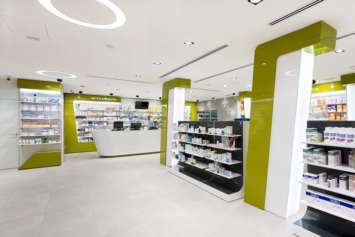 some ideas of the modern day pharmacy designs are shared along with some ideas that you can follow before starting a new venture - Pharmacy Design Ideas